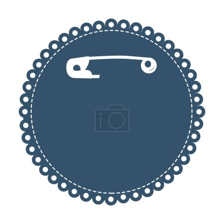 safety pin inside crochet icon