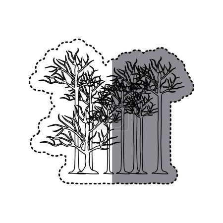 contour trees without leaves icon