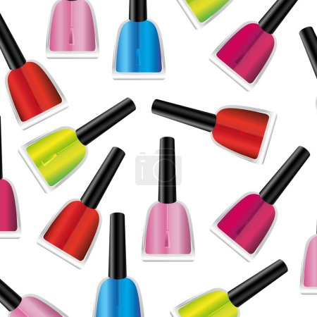 colored nails polish background icon