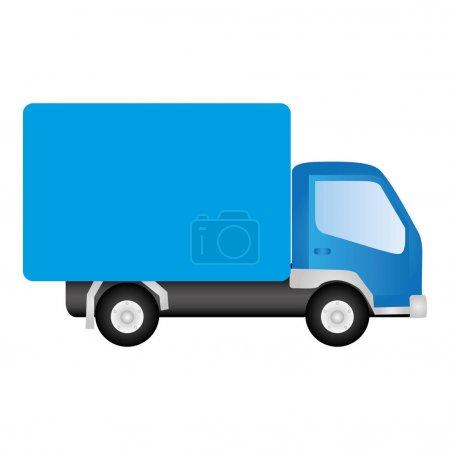blue trucks trailer icon