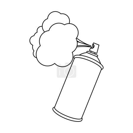 figure aerosol sprays with cloud icon