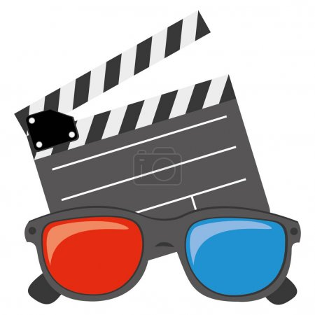 color clipart and 3D glasses icon