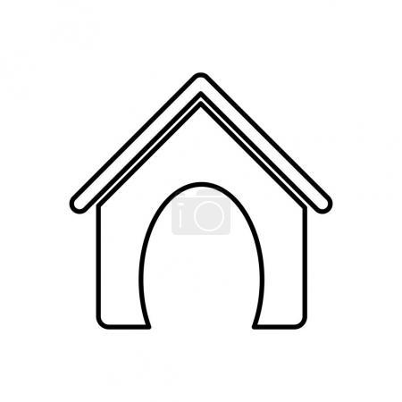 Sketch silhouette dog animal house