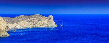 cliffs on island of Santorini