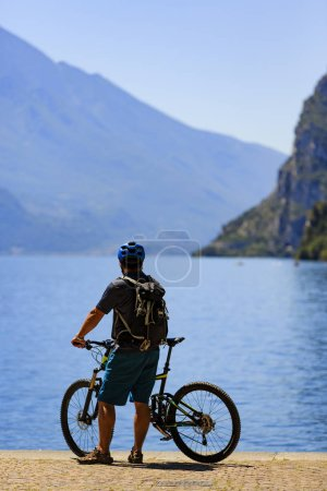 Mountain biking on Lake Garda