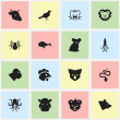Постер, плакат: Set Of 16 Editable Zoology Icons Includes Symbols Such As Chimpanzee Ocean Blower Beast And More Can Be Used For Web Mobile UI And Infographic Design