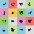 Постер, плакат: Set Of 16 Editable Zoology Icons Includes Symbols Such As Playful Fish Sow Groundhog And More Can Be Used For Web Mobile UI And Infographic Design