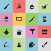Set Of 16 Editable Cooking Icons Includes Symbols Such As Pastry Soup Pot Bakery And More Can Be Used For Web Mobile UI And Infographic Design