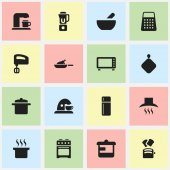 Set Of 16 Editable Cooking Icons Includes Symbols Such As Stove Refrigerator Soup Pot And More Can Be Used For Web Mobile UI And Infographic Design