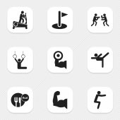 Set Of 9 Editable Fitness Icons Includes Symbols Such As Workout Biceps Flag And More Can Be Used For Web Mobile UI And Infographic Design
