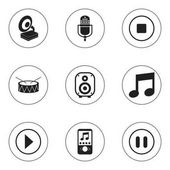 Set Of 9 Editable Song Icons Includes Symbols Such As Microphone Break Music Speaker And More Can Be Used For Web Mobile UI And Infographic Design