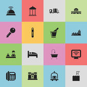 Set Of 16 Editable Motel Icons Includes Symbols Such As Champagne Building Pool And More Can Be Used For Web Mobile UI And Infographic Design