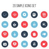 Set Of 20 Editable Heart Icons Includes Symbols Such As Smartphone Loupe Tea Mug And More