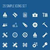 Set Of 20 Editable Service Icons Includes Symbols Such As Maintenance Spanner Arithmetic And More Can Be Used For Web Mobile UI And Infographic Design