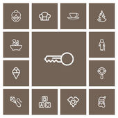 Set Of 13 Editable Folks Outline Icons Includes Symbols Such As Christmas Blocks Clues And More Can Be Used For Web Mobile UI And Infographic Design