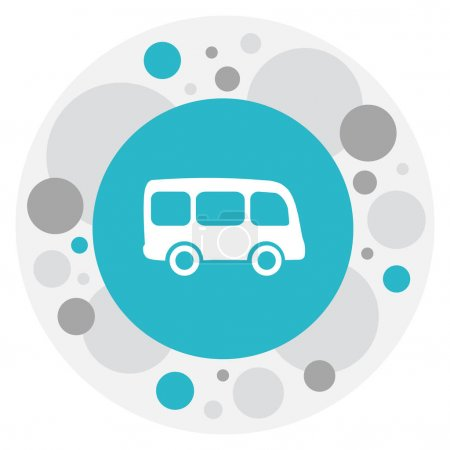 Vector Illustration Of Shipment Symbol On Omnibus Icon. Premium Quality Isolated Tour Bus Element In Trendy Flat Style.