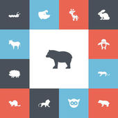 Set Of 13 Editable Animal Icons Includes Symbols Such As Polar Animal Panda Night Fowl Can Be Used For Web Mobile UI And Infographic Design