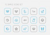 Set Of 15 Editable Animal Outline Icons Includes Symbols Such As Smelly Animal Pearl Hound And More Can Be Used For Web Mobile UI And Infographic Design