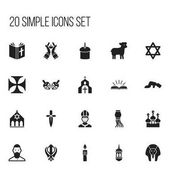Set Of 20 Editable Dyne Icons Includes Symbols Such As Christian Sajdah Church And More Can Be Used For Web Mobile UI And Infographic Design