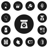 Set of 13 editable cook icons Includes symbols such as lactose oven glove cheese and more Can be used for web mobile UI and infographic design
