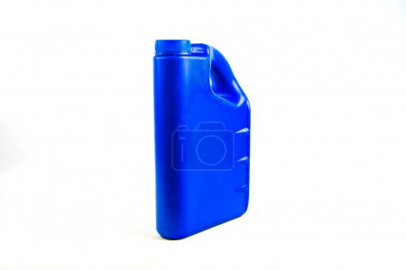 Plastic container for motor oil isolated ,Car oil bottle