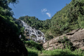 Mae Ya Waterfall in Chang Mai Thailand  .