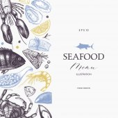 Seamless Seafood background