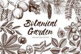 Botanical garden drawing frame