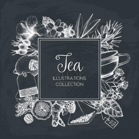 hand drawn tea card