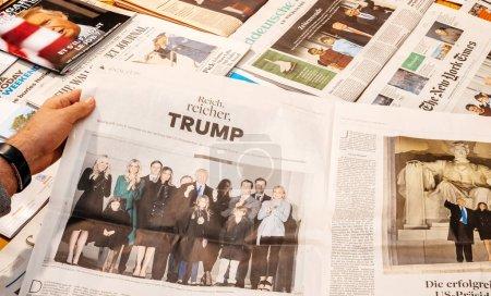 Donald Trump family at inauguration