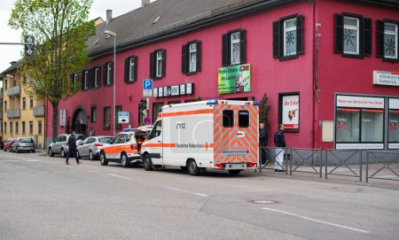 Ambulance arriving fast at accident
