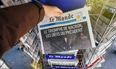 Le monde with President's Challenges Emmanuel Macron after elect