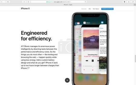 a11 bionic processor Apple website showcasing iPhone X 10