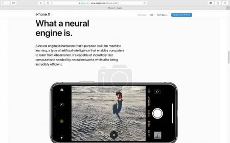 Apple website showcasing iPhone X 10
