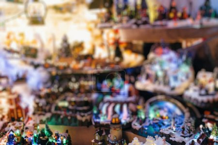 Christmas theme at Christmas market blur, bokeh, defocused