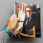 Постер, плакат: Yves Saint laurent on the cover of magazine