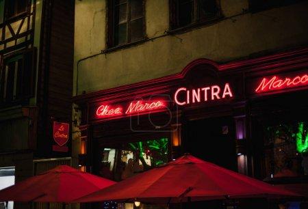 Cinntra chez marco bar facade at night