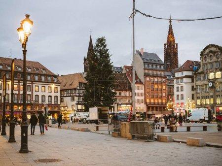 Central square in France Strasbourg Place Kleber