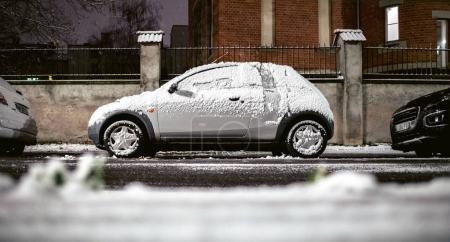 Ford Ka covered with snow