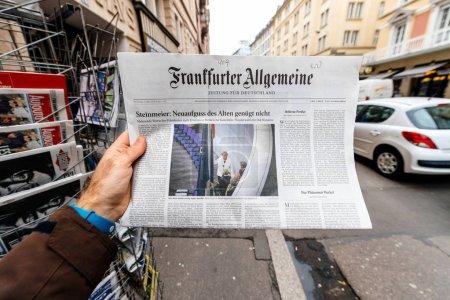 frankfurter allgemeine zeitung Newspaper at press kiosk featurin