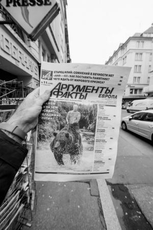 Russian press featuring Vladimir Putin
