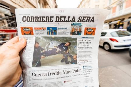 corriere della sera Newspaper about Stephen Hawking Death on the