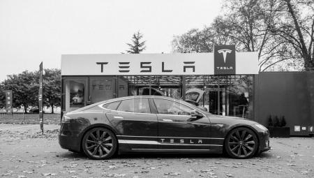 New Tesla Model S showroom