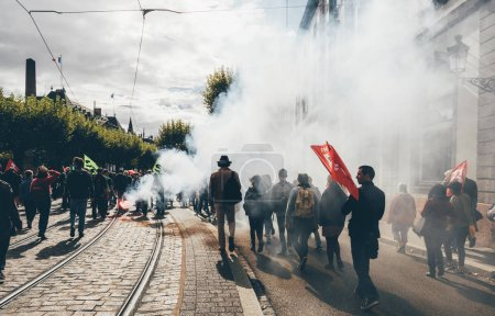 Protests in France against Macron Reforms