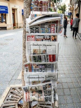 International presss news kiosk stand