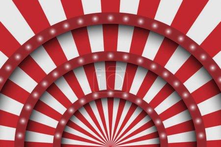 Illustration pour Résumé de fond festif. Scène de cirque lignes blanches et projecteurs . - image libre de droit