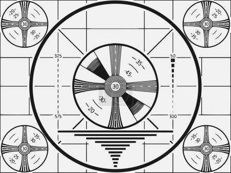 Illustration for Retro Television Test Pattern vector illustration. - Royalty Free Image