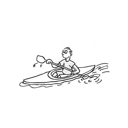 Rowing Athletes Illustration