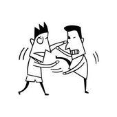 fighting boy illustration vector Illustration