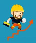cartoon character of workerbuilder